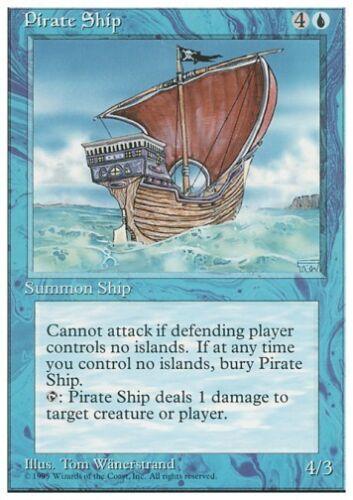 4th Edition *Rare NM* MTG 1x PIRATE SHIP