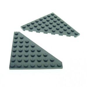 2x-Lego-Fluegel-Bau-Platte-neu-dunkel-grau-8x8-Star-Wars-4210956-30504