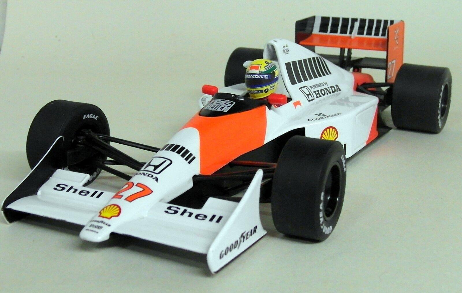 Minichamps Escala 1 18 540 901827 McLaren MP4 5B 1990 campeón del mundo Ayrton Senna