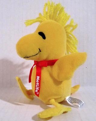 Woodstock Plush Bean Doll Peanuts MetLife Charles Schulz 6 in. Tall Yellow Bird