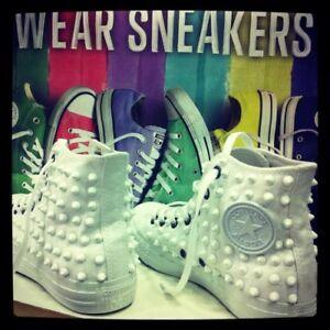 Borch con Hawaii Star mano personalizado Converse Producto Zapatos a All hechos tachuelas A4nzEwxqPE