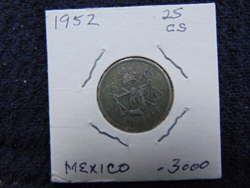1952 MEXICAN CENTAVOS RAY /& BALANCE SCALE
