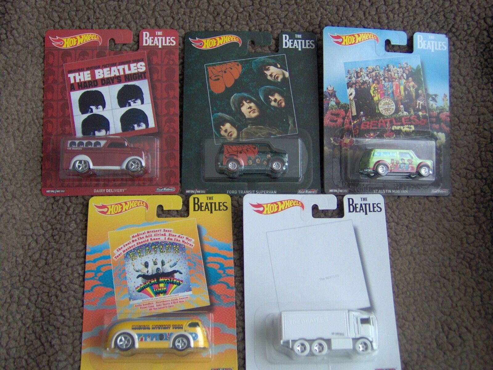 Hot Wheels Wheels Wheels Pop Culture Beatles 5 Car Set  Real Wheel Metal Metal 424d43