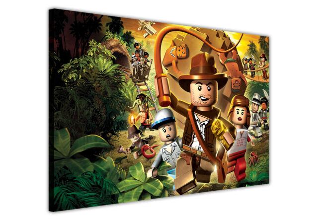 INDIANA JONES POP ART LEGO PHOTOS CANVAS WALL ART / PRINTS / PICTURES / ICONIC