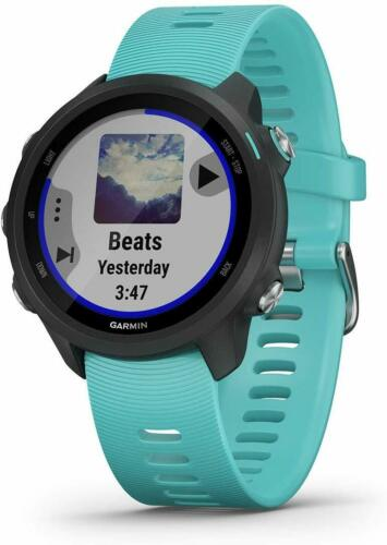 Garmin Forerunner 245 Music Wi-Fi GPS Running Watch Black//Aqua Missing Charger