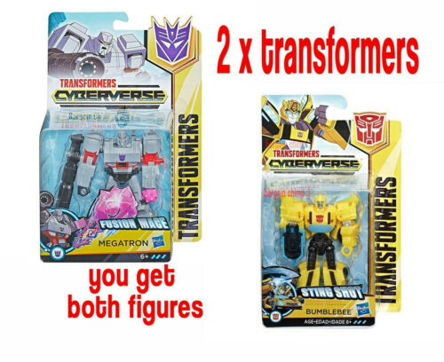 Hasbro Bumblebee /& Megatron!!! 2 X GUERRIERO Transformers cyberverse Action Figures