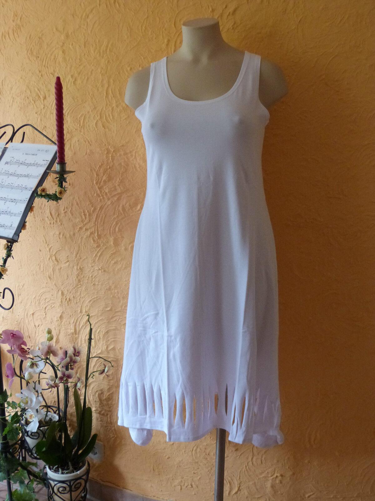BORIS INDUSTRIES Kleid Cut Outs 38 40 (S M) NEU  white Stretch A-Form LAGENLOOK