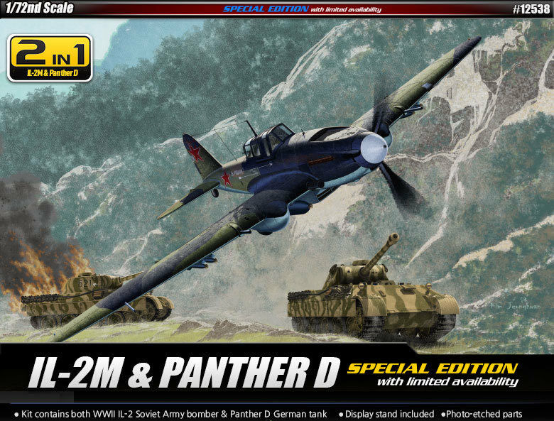 Academy 1 72 IL-2m & Panther D Limited Edition