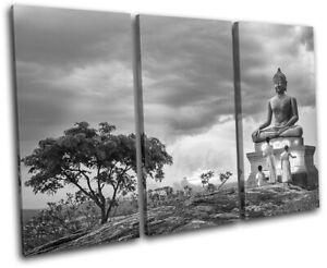 Buddha-Temple-Buddhist-Monk-Religion-TREBLE-CANVAS-WALL-ART-Picture-Print