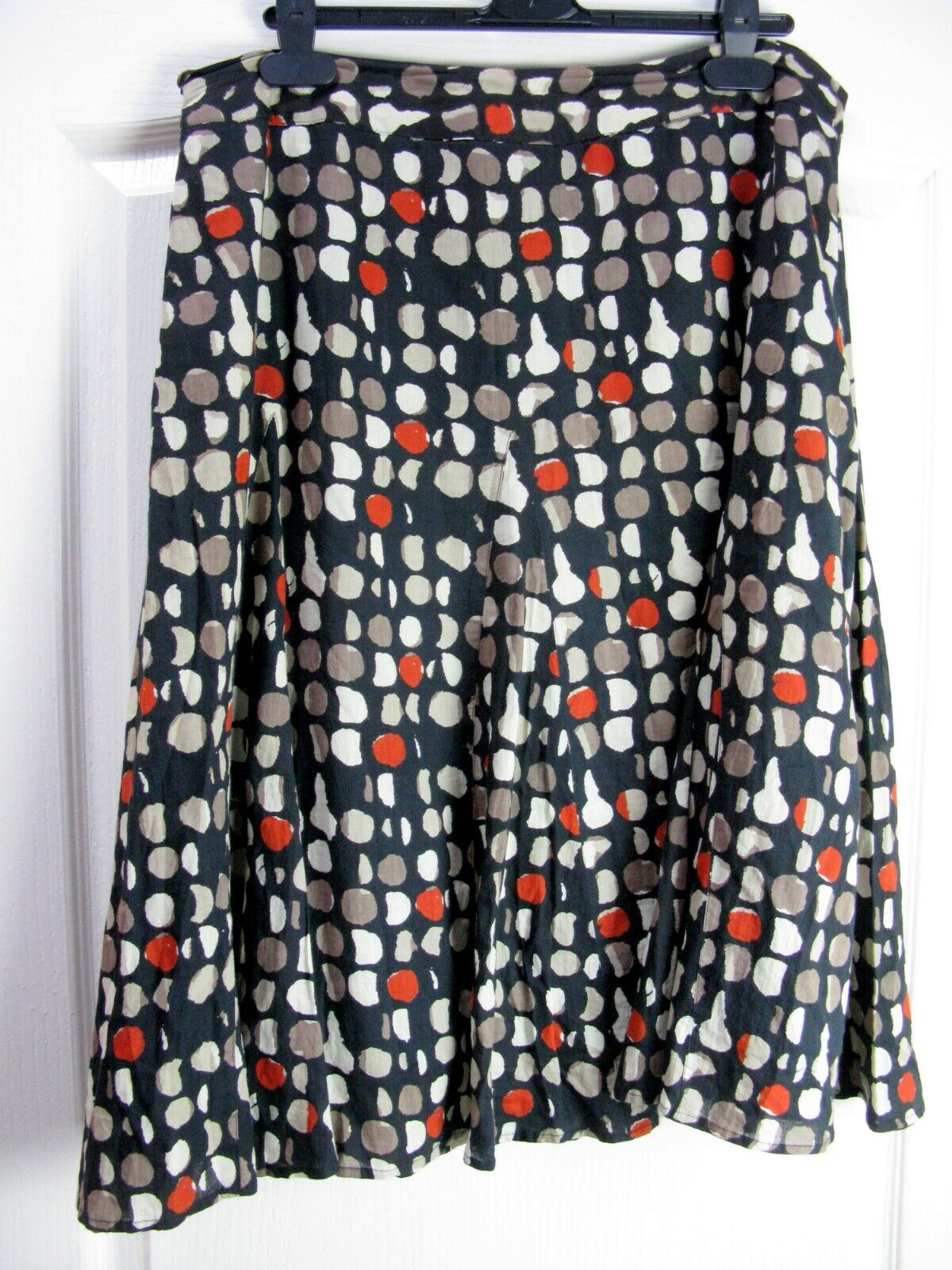 Anokhi For EAST Cotton Full Skirt Sz 14 Boho Ethnic Artisan Quirky Arty Bohemian