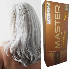 Hair-COLOUR-Permanent-Hair-Dye-Punk-Goth-Emo-Elf-SILVER-TITANIUM-BLONDE-MG705
