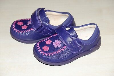 GIRLS CLARKS LITZY EVIE HOOK /& LOOP TODDLER CASUAL FIRST WALKING FLAT SHOES SIZE