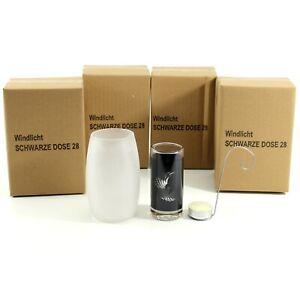 POSTEN-5x-Windlicht-Schwarze-Dose-28-Black-Teelicht-inkl-Kerze-mn1197-7e2r