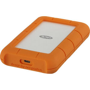 LaCie 4TB Rugged USB-C and USB 3.0 External Hard Drive - STFR4000800 With Adobe