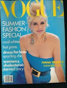 VOGUE-May-1990-Magazine-IVANA-TRUMP-Cover-by-PATRICK-DEMARCHELIER-Very-Fine