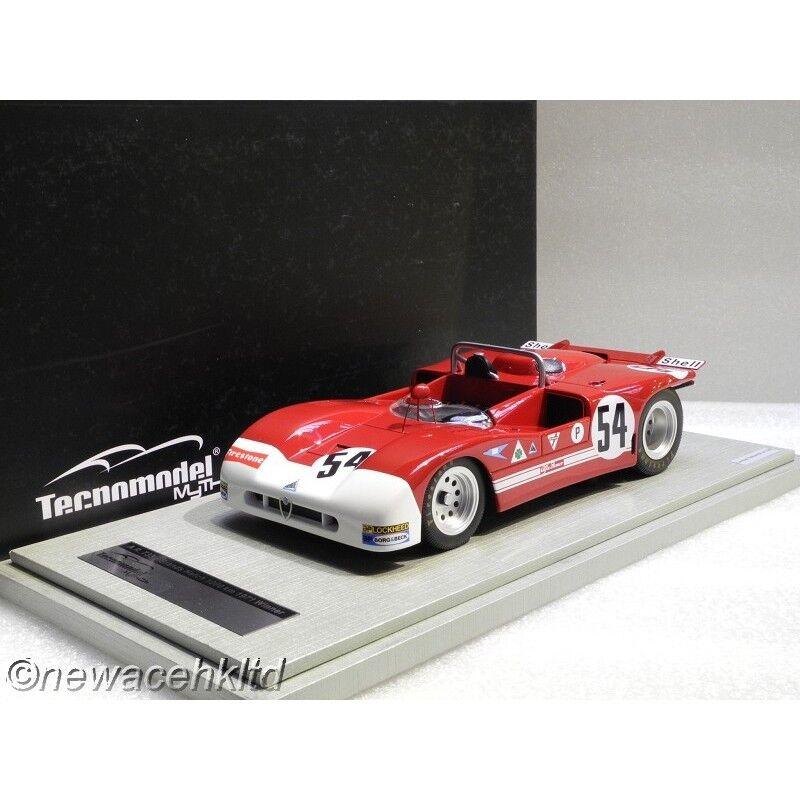 Venta barata Alfa Romeo T33 3 3 3 1971 Marcas Escotilla 1000 km ganador  54 Tecnomodel 1 18  TM18-50A  Más asequible
