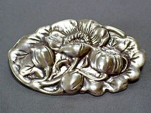 6d1a013e0 Details about LOVELY 1980s VINTAGE HM SILVER/DAVID SCOTT WALKER ART NOUVEAU  STYLE BROOCH/PIN