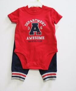 d17fff756439 Carter s Baby Boys 2 pc Department of Awesome Bodysuit   Pants Set ...