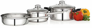 Premier Induction Bottom Stainless Steel Cookware Set - 5 piece set