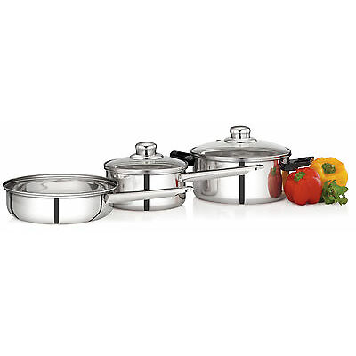Premier Induction Bottom Stainless Steel Cookware 5Pcset
