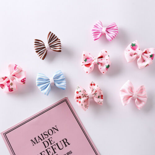 8 Pcs//Set Girl Hair Clips Striped Bowknot Hairgrips Baby Girl Hair Accessories