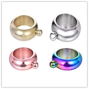 Stainless Steel Bracelet Bangle Shaped Flagon Wine Pot Hip Flask 3.5 oz/ 100mL