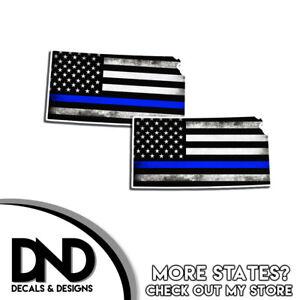 Arkansas HELMET Decal Police Blue Line AR Tattered American Flag Sticker 4 Pack