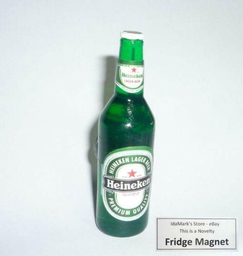 """HEINEKEN BEER Bottle FRIDGE MAGNET Novelty Indonesia 3D Acrylic 2.5/"""" Resin"""