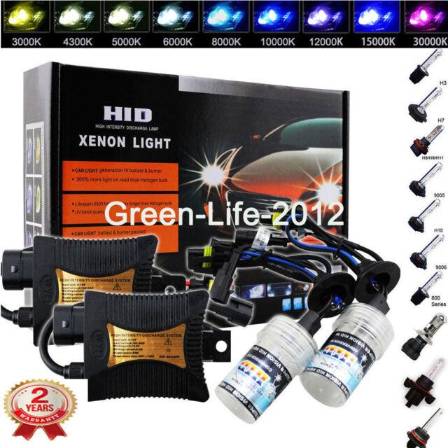 55W High/Low HID Xenon Bi-Xenon Slim Light Ampoules Kit Fog Lights Headlight