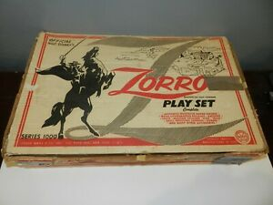 Walt-Disney-Louis-Marx-Zorro-Playset-Complete-in-Box-Series-1000-3754-RARE