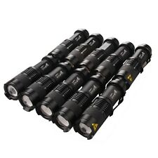 10PCS Mini 600LM 1Mode Adjustable Focus Power CREE Q5 LED Flashlight Torch Light