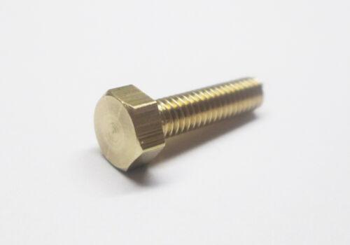 25pk UK Manufacturer 4 BA Brass hexagon head screws BA Bolts