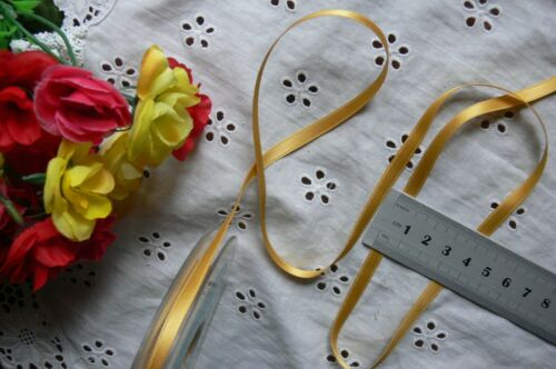 Satin /& Metallic LEMON /& GOLD Ribbons 3,6,7/&10mm Wide 2,3,4,5/&10 Metre Choice BW