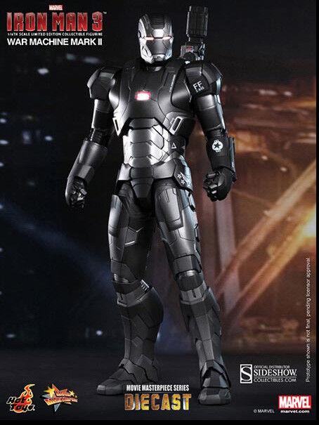 Iron Man 3 12 pulgadas figura 1 6 escala Diecast MMS-Máquina de Guerra Mark Ii Hot Toys