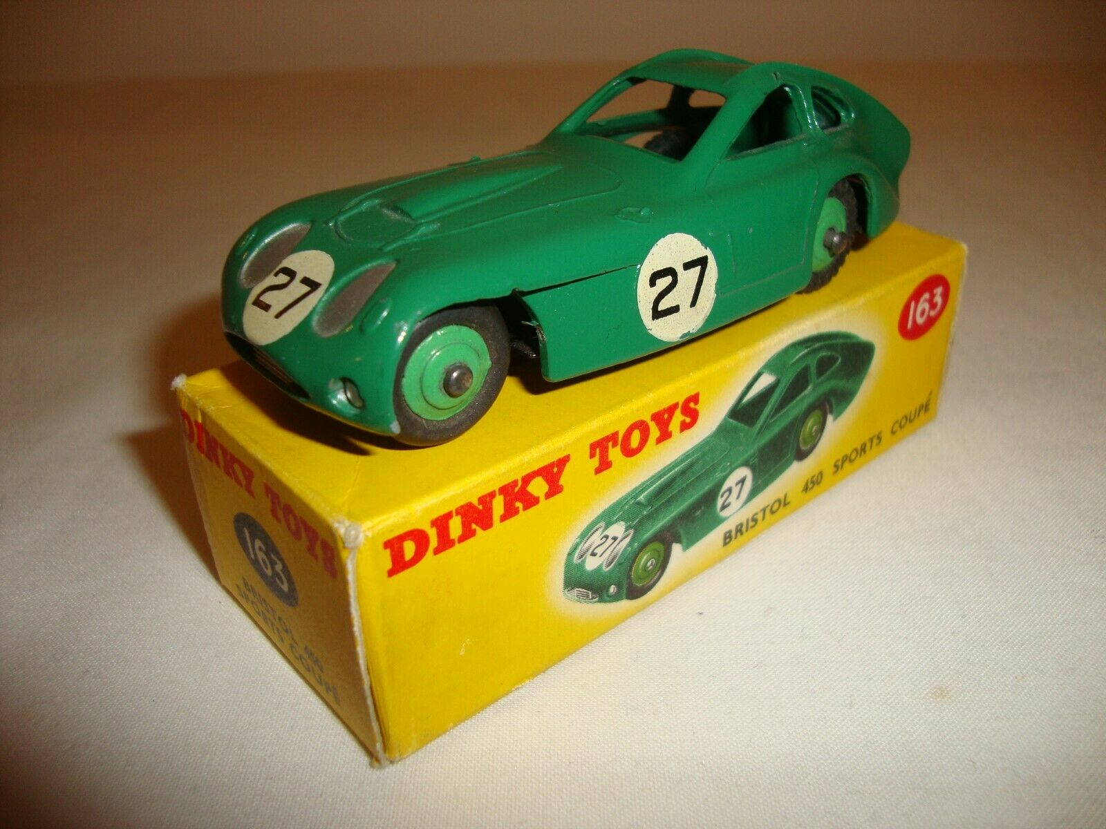DINKY 163 BRISTOL 450 SPORTS COUPE - VERY GOOD in original BOX