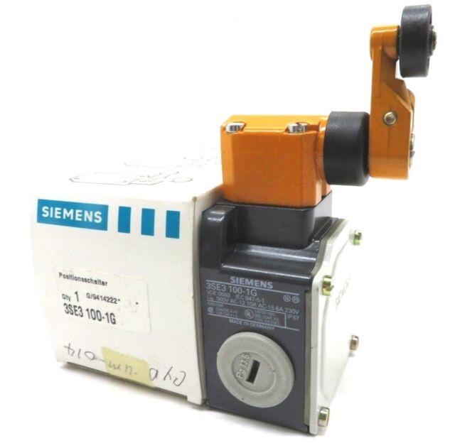 NEW SIEMENS 3SE3-100-1G LIMIT SWITCH WITH ROLLER 3SE31001G