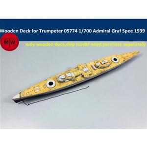 TMW 1/700 terrasse en bois pour Trumpeter 05774 German Admiral Graf Spee Cuirassé Mo