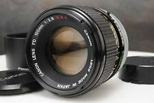 :Canon FD 100mm F2.8 S.S.C. Manual Focus Prime Lens w BT-55 Hood EXC+