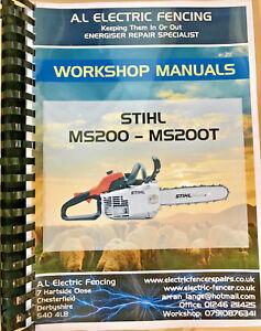 Details about Stihl MS200 - MS200T Workshop Manual,Stihl Workshop  Manuals,Free Postage