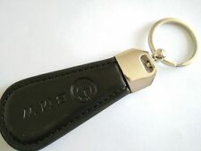 Black PU Leather Drop Keyring BMW car logo Key Ring Keychain Gift