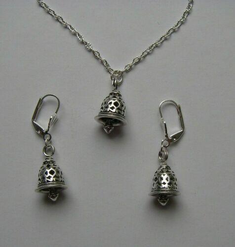 Schmuck-SET Ohrringe Kette 3D Glöckchen Glocken Geschenk