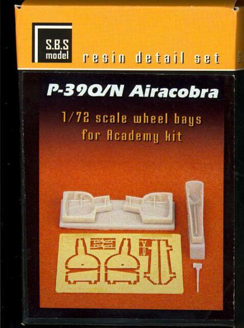 SBS Models 1/72 BELL P-39Q P-39N AIRACOBRA WHEEL BAYS Resin Conversion Kit