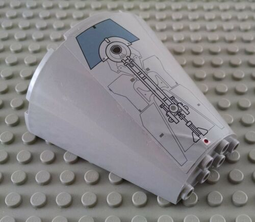 LEGO Light Bluish Gray 8x4x6 Star Wars Escape Pod Hatch Stick Cone Piece