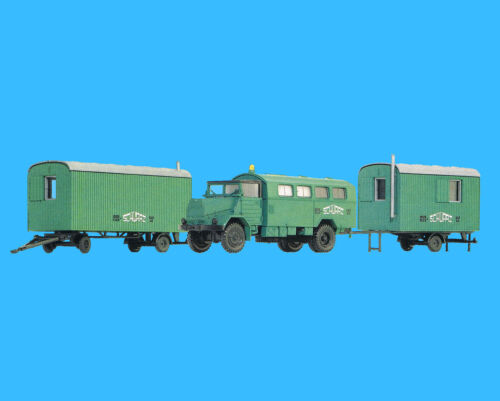 Roco H0 1545 SET MAN 630 L2A Koffer + 2 BAUWAGEN 1 + 2 Achs Schwarz-Bau HO 1:87