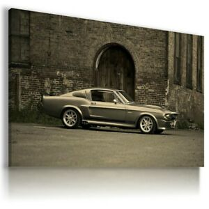 FORD SHELBY GT 500 SILVER Cars Large Wall Art Canvas Picture AU1042 MATAGA .