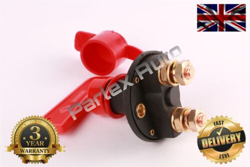 GUARANTEED TRUCK VAN HEAVY DUTY BATTERY MASTER ISOLATOR CUT OFF KILL SWITCH