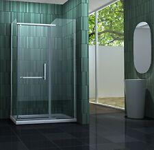 ENCO 120 x 80 Glas Duschkabine Dusche Duschwand Duschabtrennung ohne Duschtasse