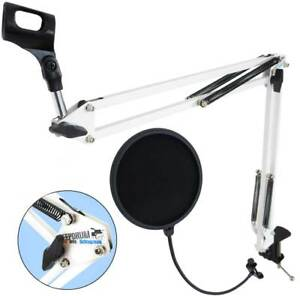 KEEPDRUM-nb35-wh-blanc-couronne-Microphone-trepied-popschutz-popfilter-HMU