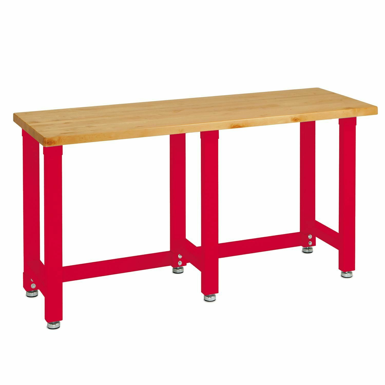Seville Classics UltraHD Workbench Solid Work Table Red Finish