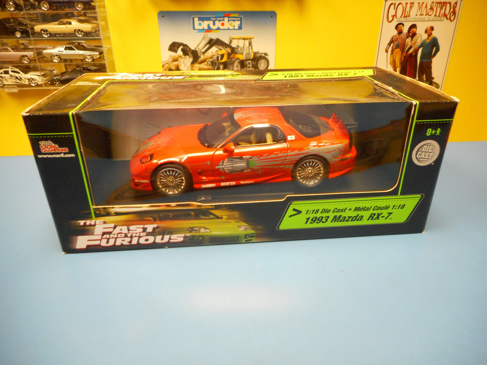 Racing Champions ERTL Fast & Furious Mazda RX-7 1993  Plume